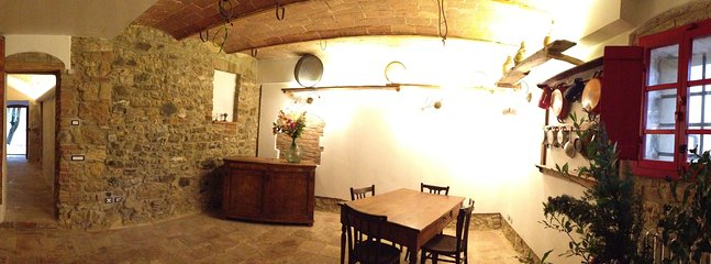 The common area in the ancient heart of Agriturismo Le Capanne