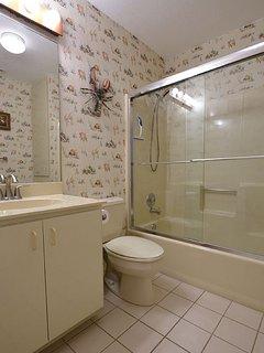 Bath, shower in guest bathroom