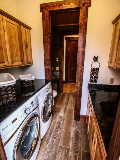 Laundry facilities at Copperleaf at Eagle's Nest.