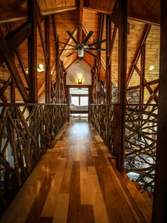 Walkway upstairs at Copperleaf at Eagle's Nest.