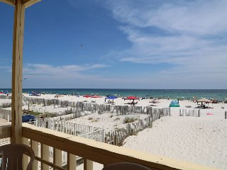 RENOVATED Sunrise Village 110 ~ GULF FRONT private balcony, right on the beach,