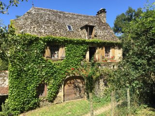 Charming, idylic Manor House, surrounded by woodlands next to a small stream, Lescure-Jaoul