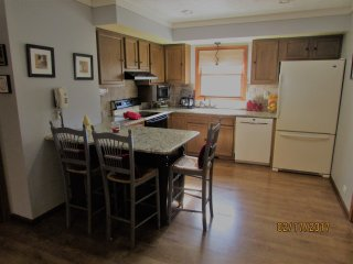 FULLY EQUIPED KITCHEN, SPICES,COFFEE, SUGAR, PAPERWARE GOURMET COOK EQUIPMENT, MANY EXTRAS,