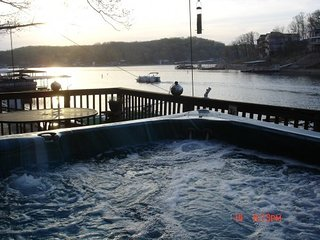 ENJOY THE SUNSET IN THE SPA AT THE WATERS EDGE