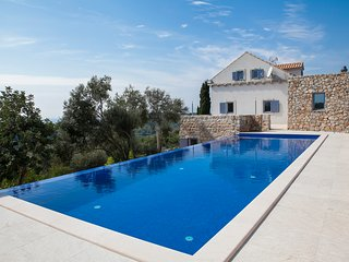 Panoramic stone villa with pool on island Sipan, near Dubrovnik