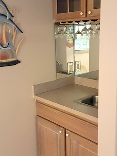 Cool off with a drink from the built in wet bar