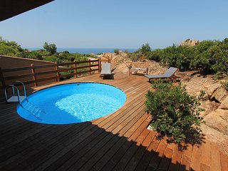 House rosa 11 with private pool and solarium with sea view