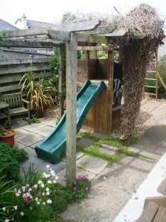 Play zone in the side garden