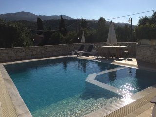 Top luxury villa in peaceful central location in Kassiopi. Sea & mountain views