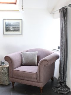 Reading corner in snug or 2nd living room which can act as a 4th bedroom with  sofa bed and TV
