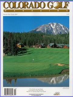 View of Home on Hole #1 - Featured in Colorado Golf magazine.