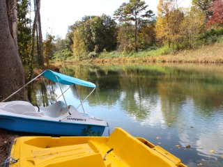 Waterside Escape: Complete Privacy, Fishing Pond and Paddle Boats, Game Room, Helen