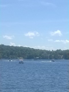 boating activity; rent a motorboat or paddle boat at Payne's Watersports directly across from dock!