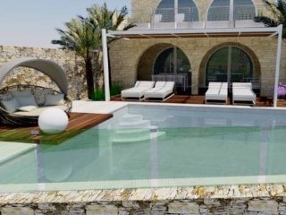 House of character newly built on cliff edge with infinity pool & fantastic view, Zebbug