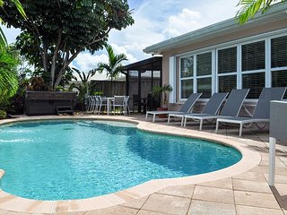 Updated Waterfront Oasis with Private Pool and Hot Tub