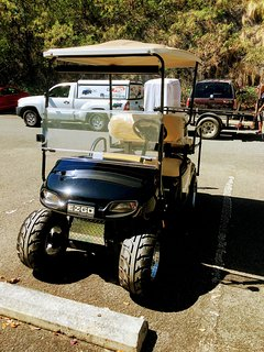 Golf cart available at additional cost.