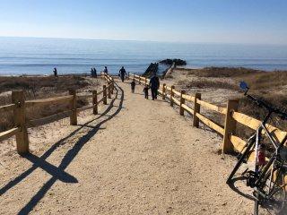 Walkway to bay beach