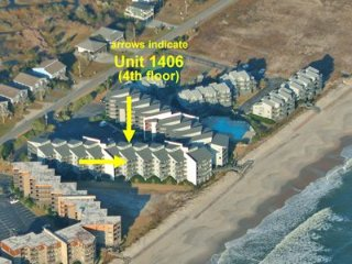 Aerial photo showing location of Unit 1406