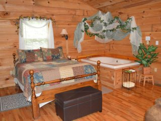 Very Romantic 'A Time for Two' Couples Rustic Cabin with Hot Tub!