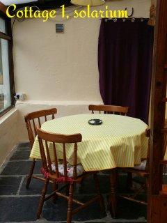 Dining Room in Solarium