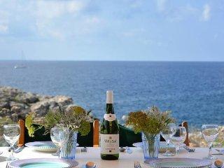 Seafront Villa Feliz - direct sea access, Binibeca