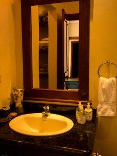 Granite counter tops in all bathrooms