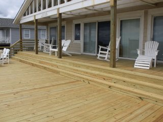 Deck with shaded area