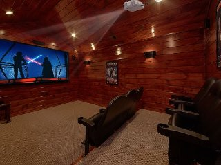 Private theater room with surround sound!