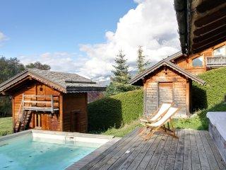 Chalet avec piscine et jacuzzi à Mégève