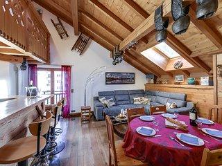 Appartement vue Mont-blanc au cœur de Chamonix
