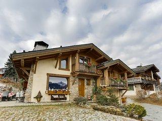 Chalet familial bien ensoleillé face au Mont-Blanc