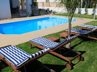Private swimming pool with terrace and garden