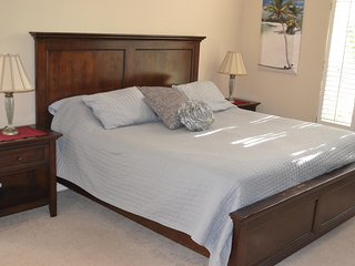 Huge Master bedroom with king-sized bed