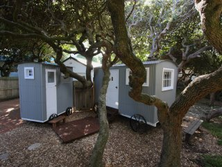 Shepherds hut near the sea