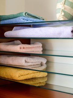 We provide towels, bedlinen & weekly cleaning