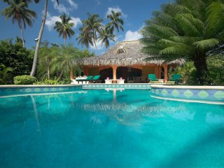 VILLA SAN LUCAS is a Luxury Villa with Pool 2 Minutes Walk From a Sandy Beach, Las Terrenas
