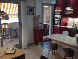 Grand studio proche Port et Old Nice et large terrasse ensoleillee