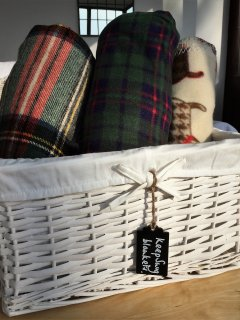Our keep snug blankets are lovely for wrapping up in when outside star gazing or enjoying the view!