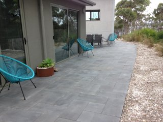 Wide patio out side bedrooms