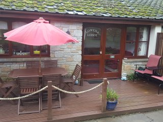 Lowena Lodge woodland chalet bungalow  Treva Croft,Lelant St Ives self catering