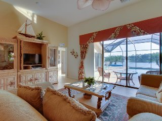 Gated community, waterfront home with private pool & community amenities!