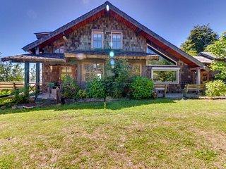 Gran cabana rustica con terraza, frente al lago - Large rustic cottage lakefront