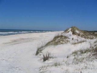 Beach area across the street