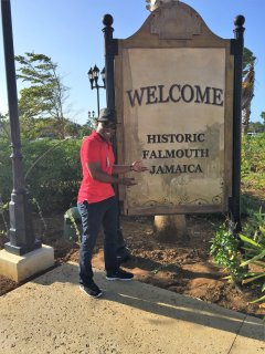 Welcome to historic environs of Falmouth, Jamaica...I am your host Jason