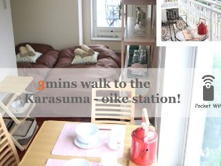 Cozy Studio Apartment Mid-Downtown /WIFI/#Kyoto#11, Kioto