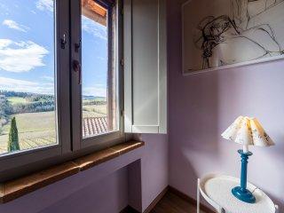 Apartment with view of San Gimignano Casa Bondi