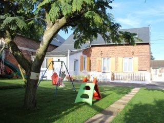 Gite à la campagne  avec salle de  fitness et de jeux  en Picardie