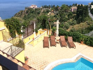 EXCLUSIVE VILLA MATIS  Private Pool +Sea View Terrace Taormina