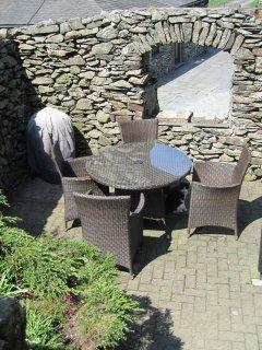 Yan's sunny seating area.