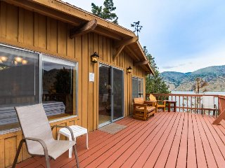 Dog-friendly lakefront rustic cabin for 8 w/ dock and incredible views!